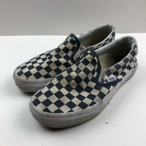Checkered vans 6M 7.5WMN blue and white